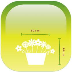 アレンジメントSサイズ大きさのイメージ
